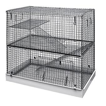 Ossos preguiçosos double storey pequeno animal metal cage