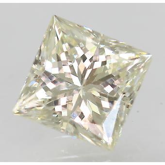 Certified 0.83 Carat I VVS2 Princess Enhanced Natural Diamond 5.18x5.16mm 2VG
