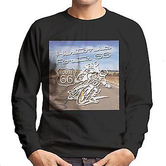 Route 66 historiska motorcyklar mäns Sweatshirt