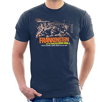 Hammer Horror Films Frankenstein Monster From Hell Grab Men's T-Shirt