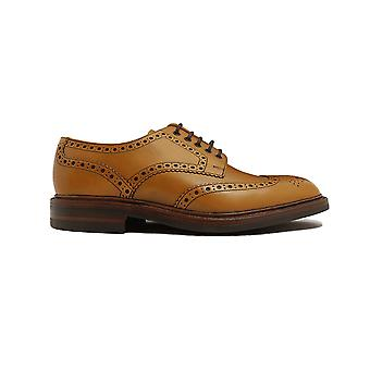 Loake Chester Tan Burnished Calf Leather Mens Derby Shoes