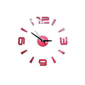 Diy 3d Mirror Surface Large Number Wall Clock Sticker - Mirror Large Art Design