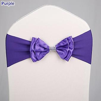 Satin Chair Sash Spandex Bow Tie Ready Made For Wedding Hotel Party Decoration