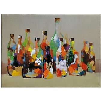 Print on canvas - Bottles - Painting on Canvas, Wall Decoration