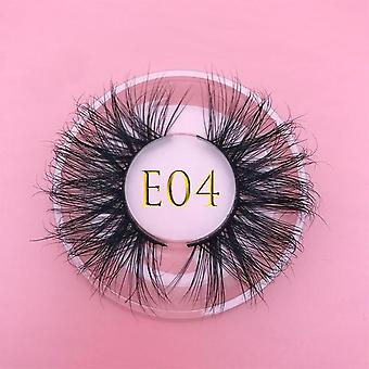 25mm 100% Handmade Natural Thick Eye Lashes Wispy Makeup Extension Tool