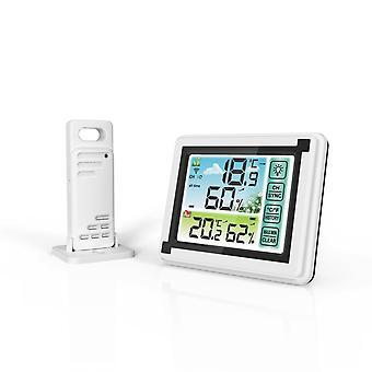 Yuihome wp6950 433mhz indoor outdoor touch screen draadloos weerstation kleur lcd htn display ipx4 hygrometer thermometer outdoor sensor klok