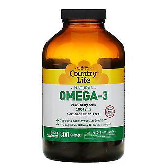 Country Life, Naturel Oméga-3, 1000 mg, 300 Softgels