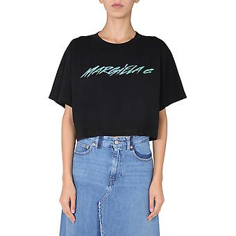 Mm6 Maison Margiela S52gc0168s23588900 Dames's Zwart Katoen T-shirt