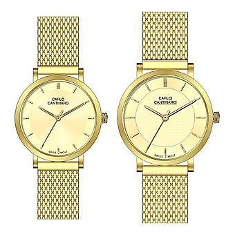 Carlo Cantinaro CC3001SM004 Partner Set Women's Watch Men's Watch