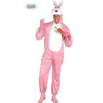 Traje de conejo rosa para adulto unisex carnaval carnaval conejo los conejos