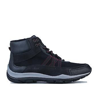 Women's Geox Kander Hi-Top Trainers in Black