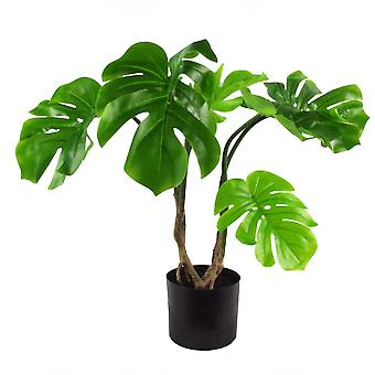 60cm Artificial Twisted Stem Monstera Plant