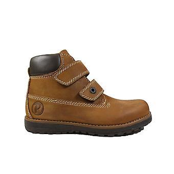 Primigi Aspy 6410166 Tan Nubuck Leather Boys Rip Tape Ankle Boots