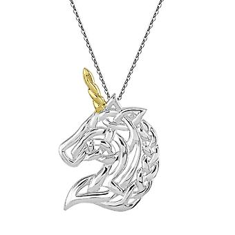 Heritage Sterling Silver Celtic Creatures Unicorn Gold Plate Hanger 9259GD