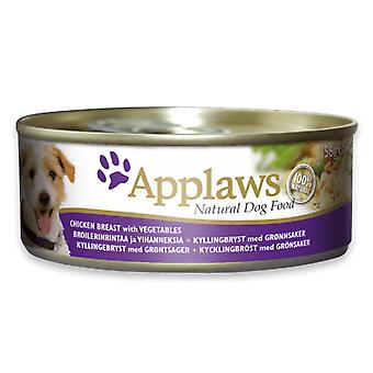 12 x 156g Applaws Natural Dog Pet Wet Food Chicken Natuurlijke Vleesgroenten