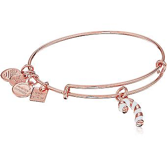 Alex and Ani Charity By Design Candy Cane Expandable Wire Bangle Charm Bracelet