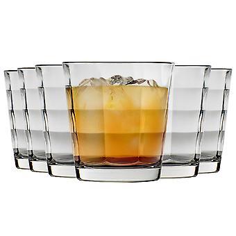 Bormioli Rocco Cube Tumbler Glasses Set - 240ml - Pack de 6