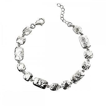 Begynnelse Sterling sølv hamret multi link armbånd B5199