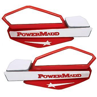 Powermadd 34222 Star Handguard System Fits Honda - Red/White