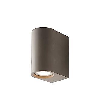 Integroitu LED-seinä harmaa sileä sementti 2 kevyt IP20