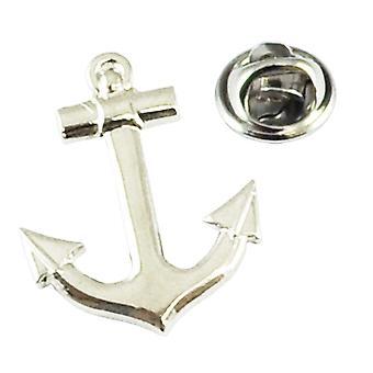 Ties Planet Nautische Ankerschip Yacht Sailors Silver Revers Pin Badge
