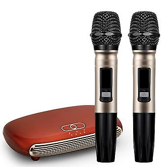 Handheld Wireless Karaoke Microphone Player Home Echo Mixer System Digital Sound Audio Singing Machine