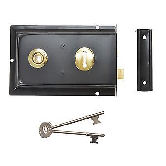 Yale Locks P334 Rim Lock Black Finish 156 x 104mm Visi YALP334BK
