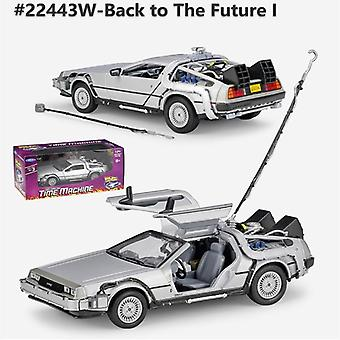 1:24 Diecast Alloy Model Car, Dmc-12 Delorean Back To The Future Time Machine