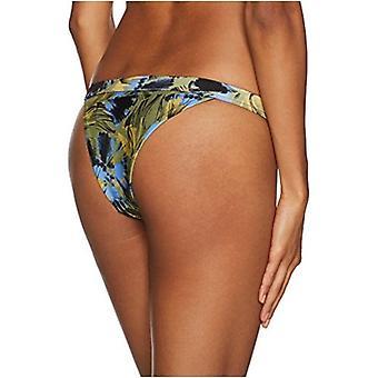 RVCA Women's Hotel Motel Skimpy Bikini Bottom, Olive, M