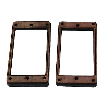 2x 3.62inch Rosewood Humbucker Pickup Mounting Ring for Electric Guitar Durable