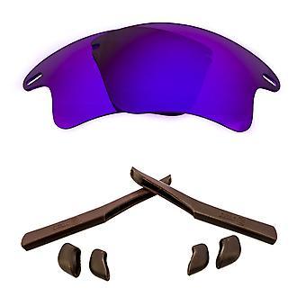 Polarized Replacement Lenses Kit for Oakley Fast Jacket XL Purple Mirror Brown Anti-Scratch Anti-Glare UV400 SeekOptics