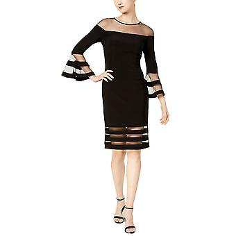 Betsy & Adam | Illusion-Stripe Sheath Dress
