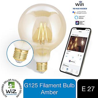WiZ LED G125 Smart Filament Bulb Amber ES (E27) Tunable White & Dimmable, 1 Pack