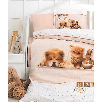 Pets, Dog, Cat, Rabbit, Baby Bedding Set, Newborns Sheet, Animals Printed Duvet