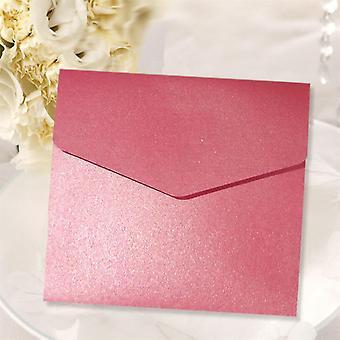 10 Invitations Azalea Pink Square Pocketfold