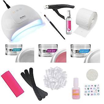 Clous complets de gel de kit de démarrage comprenant la lampe UV/LED