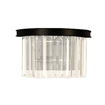 Loft Black Wall Light 2 Pærer Længde 19 Cm