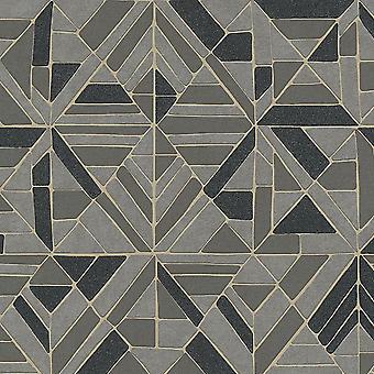 ASC Grey Gold Retro Tiles