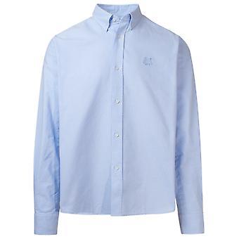 Kenzo Fa65ch4001ld63 Men's Light Blue Cotton Shirt