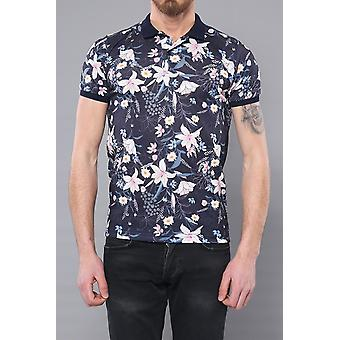 Polo floral patterned men's t-shirt | wessi