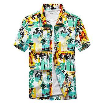 Paidat Miesten Kesäloma Hombre Coconut Tree Printed Lyhythihaiset paidat