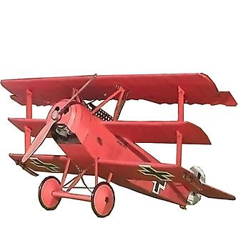 Fokker Three Wing Fighter Aircraft - Diy 3d Paper Card Model Building Sets