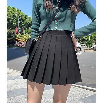 נשים חצאית אופנתי מותניים גבוהים קפלים מתוק חמוד לרקוד Cosplay תלבושות