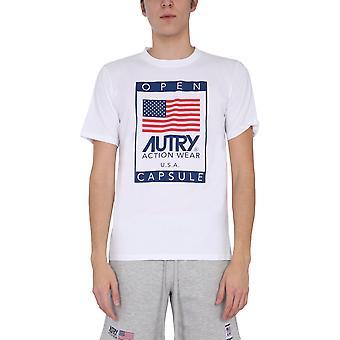 Autry Tsxma02m Men's Valkoinen Puuvilla T-paita