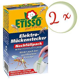 Sparset: 2 x FRUNOL DELICIA® Etisso® sähköinen hyttystulpan täyttöpakkaus, 20 levyä