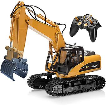 ❤Top race 15 channel heavy duty professional remote control grapple fork excavator tractor with metal fork 118 scale (tr-215) ❤Multi – functional tractor vehicle, works exactly like a real fork excavator, 1 step before hydraulic excavator, ability and po