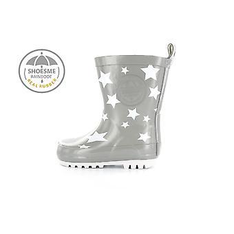 SHOESME Rainboot & Fleece Sock Welly Grey