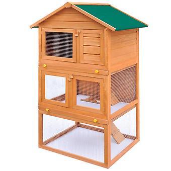 أرنب مستقر بيت الحيوانات الصغيرة Hasenstall 3 مستويات الخشب