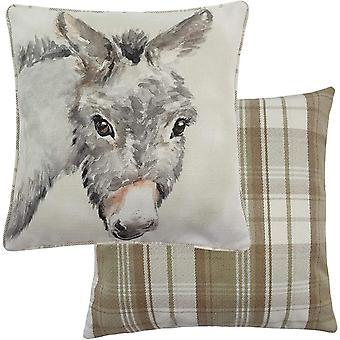 Evans Lichfield Watercolour Donkey Cushion Cover