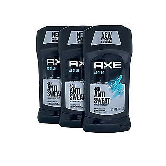 AXE Apollo 48 Hour Dry Antiperspirant & Deodorant 2.7 OZ Set of 3
